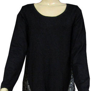 Style & Co Sweaters Black Silver Combo Medium